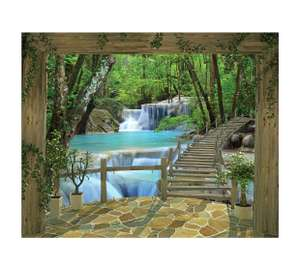 Various 8ft x 10ft Murals for £6.99 using £15 instore voucher @ Argos (c+c) e.g. Waterfall - Woodland Forest - Paradise Beach