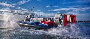 2 x Day Return to Isle of Wight via Hovercraft with Hovertravel for £12