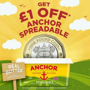 Get £1 off Anchor Spreadable via Printable Coupon!