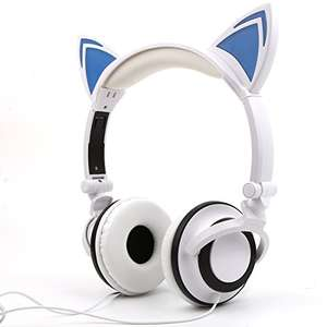 Kids cute,  'cat' headphones, adjustable stereo, portable  half price at £6.99 (Prime) / £10.98 (non Prime)  Sold by HangRui Technology Co,Ltd and Fulfilled by Amazon.