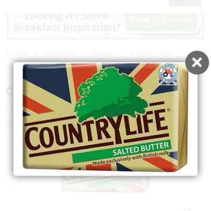 country life 250g £1.39 in jack fultons and get 75p topcashback