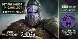 For Honor Free (In-Game) Loot @ Twitch Prime