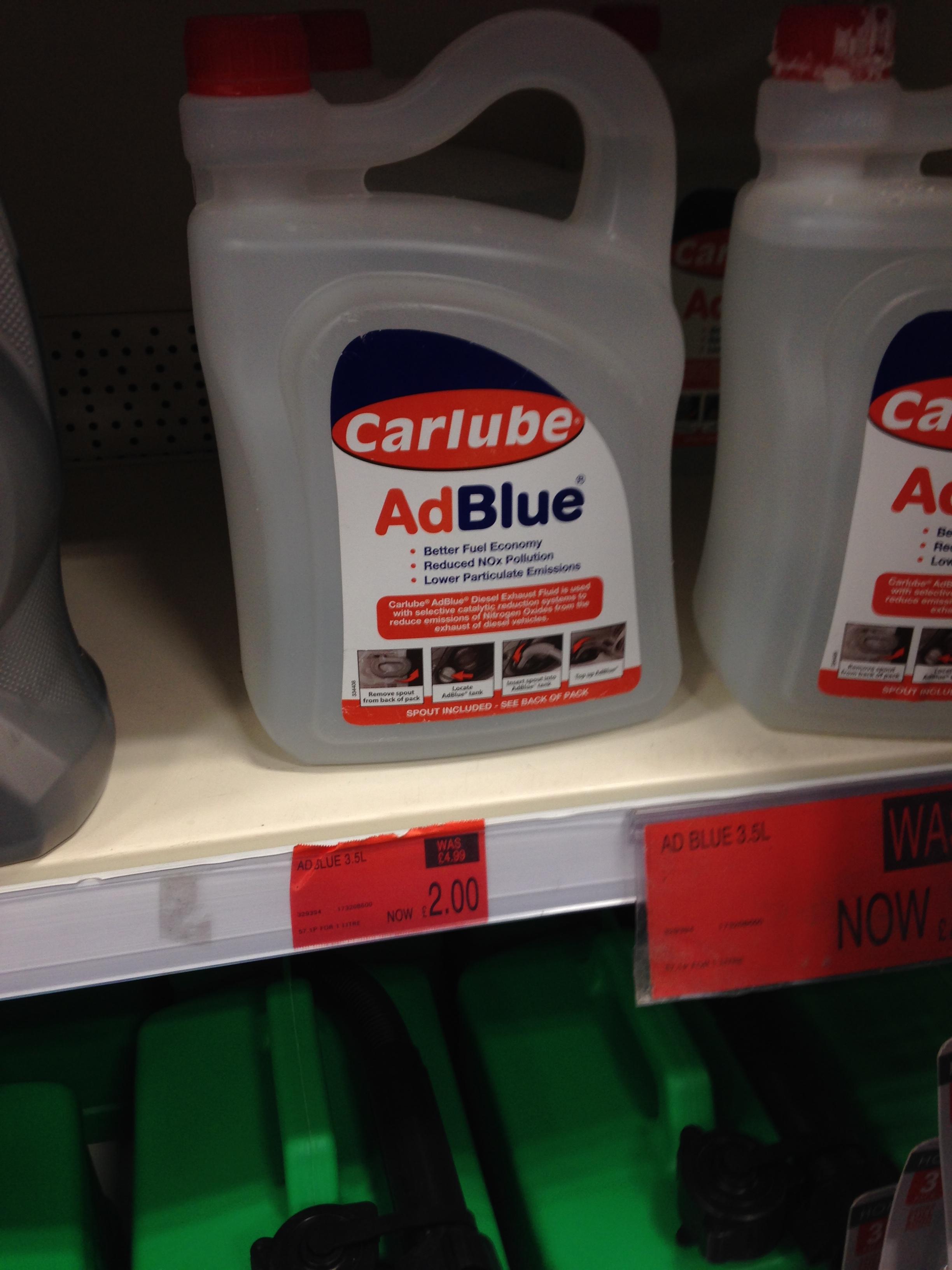 Carlube ADBlue £2 at B&M (Sheffield)