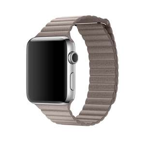 Large Apple Watch 42mm Leather Loop - Watch strap - Smoke Grey - Debenhams Plus @ £57 including delivery