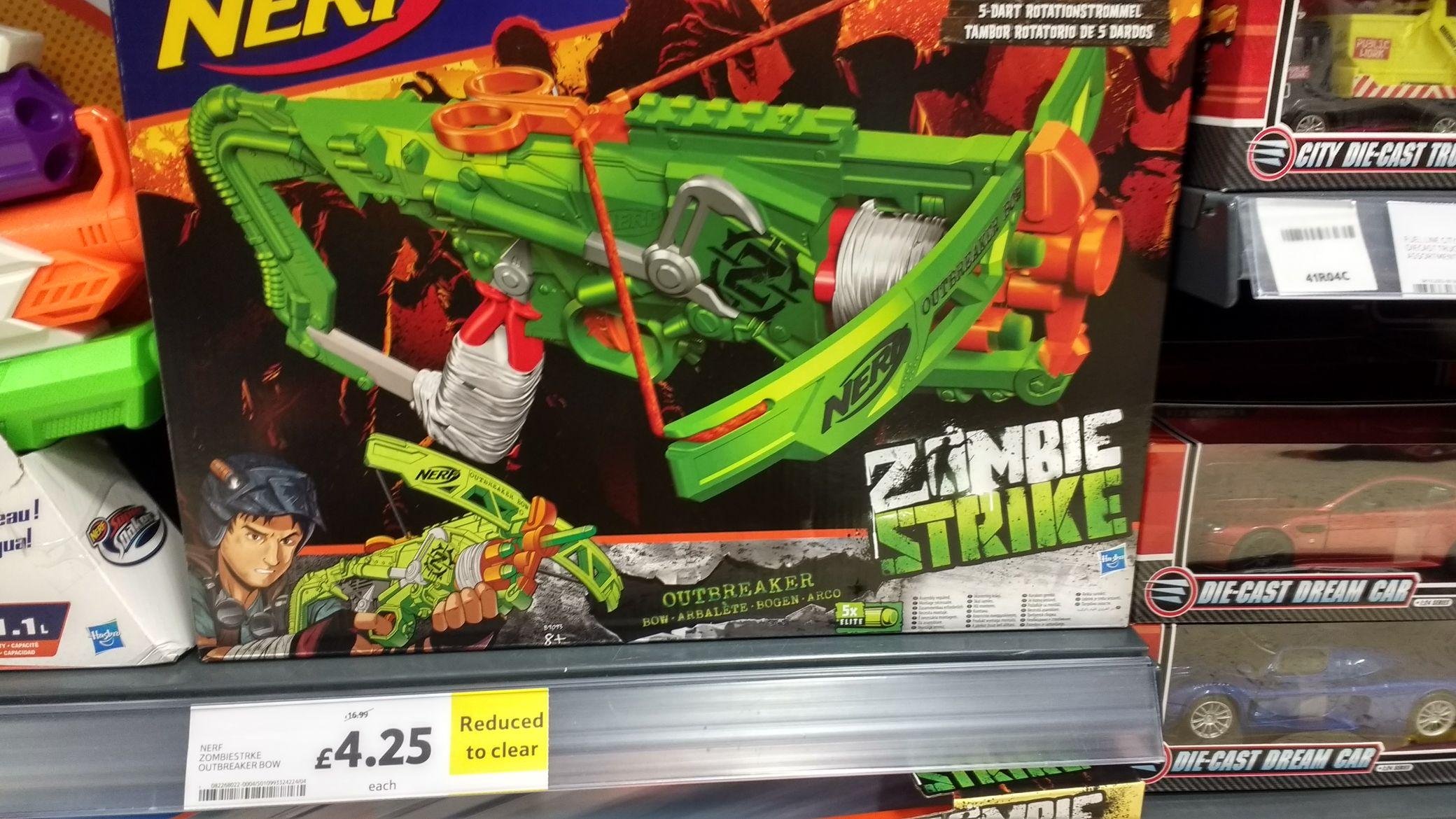 Nerf Zombiestrike Outbreaker Bow Tesco Newtownbreda - £4.25