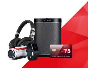 Vodafone unlimited Fibre Broadband (Upto 38Mb) PLUS claim a gift worth up to £199 (RRP) - e.g. Sonos PLAY:1 Speaker £25PM (18mo contract - £450 total spend) @ Vodafone
