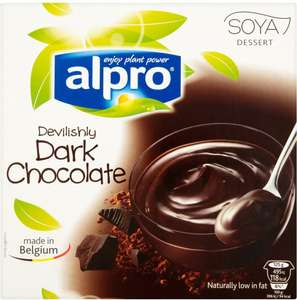 Alpro Dark Chocolate Soya Dessert (4 x 125g) was £1.50 now 2 for £2.00 @ Tesco