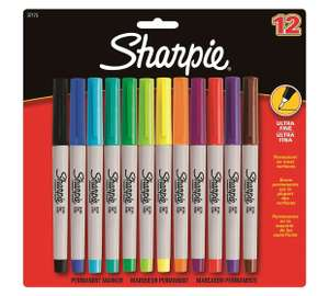 Sharpie 12 Pack of Ultra Fine Permanent Markers was £14.99 now £9.99 @ Argos