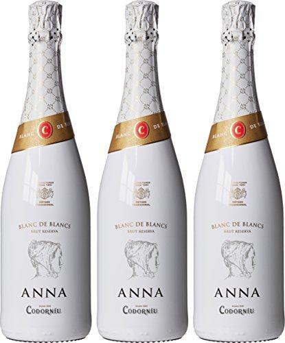 Anna de Codorniu Blanc de Blancs Reserva Non Vintage, 75 cl (Case of 3) £16.39 prime / £21.14 non prime @ Amazon