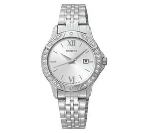 Seiko Ladies' White Dial Stainless Steel Bracelet Watch - £48.74 @ Argos with Code JEWEL25