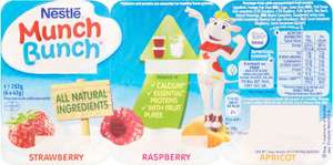 Munch Bunch Strawberry, Raspberry and Apricot 6 x 42g (252g) was £1.50 now 75p @ Iceland