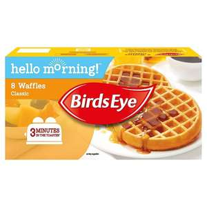 Birds Eye 8 Breakfast Waffles Frozen (240g) was £1.50 now 75p @ Ocado