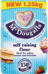 McDougalls Plain Flour (1.5Kg includes 20% extra free) was £1.25 now 75p @ Tesco