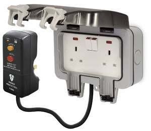 British General Weatherproof Masterplug Outdoor Power Kit with 2g IP66 Switched Socket/ 3m Cable/ RCD plug £17.34 with PRIME (£22.09 without PRIME)