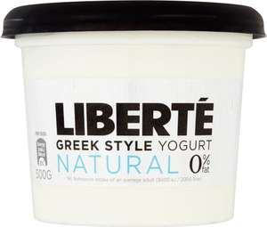 Liberté Greek Style 0% Fat Yogurt Natural (500g) was £2.00 now £1.00 @ Waitrose
