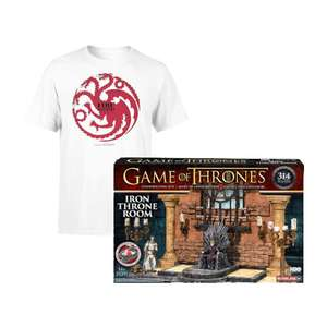 Men's Game of Thrones Targaryen Fire & Blood Tee + Throne Room Constrution set £9.99 + £1.99 del @ IWOOT (Free del on £10+ Spend)