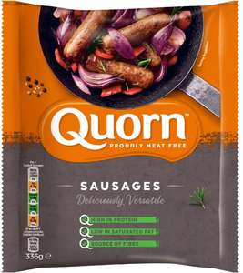 Quorn Meat Free Sausages (8 per pack - 336g) was £2.00 now £1.00 @ Tesco