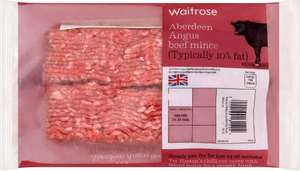 Aberdeen Angus mince beef, 10% fat (400g) was £4.30 now £2.86 @ Waitrose