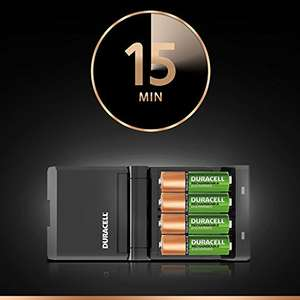 Duracell 15 minutes Charger with batteries, Amazon £18.38 - Sold by TELcomponents and Fulfilled by Amazon
