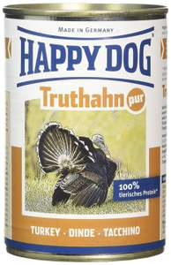 Happy Dog Wet Dog Food Pure Tinned Turkey, 400 g, Pack of 12 £7.87 (Prime) Or £11.86 (Non-Prime) @ Amazon