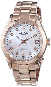 Rotary Women's Automotive Watch with White Dial Analogue Display and Rose Gold Stainless Steel Bracelet LB00157/41 at Amazon for £35.34