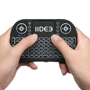 LIIR i8 pro 3-Colors BACKLIT Wireless Mini Kodi Keyboard with Touchpad Mouse for Raspberry Pi 2, MacOS, Linux, HTPC, IPTV, Google Android TV Box, Windows £7.99 (Prime), £11.98 (Non-Prime) @ Sold By Liir And Fulfilled By Amazon
