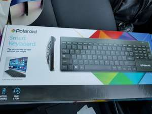 Polaroid smart wireless keyboard & Trackpad instore at Asda (Wolstanton) for £2.50