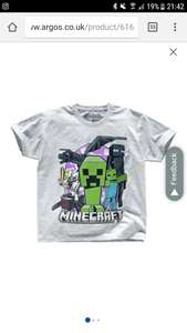 Now *£3.99* Argos clearance Minecraft kids t shirt with free c+c (£11 in Next) Hoodies also reduced to £8.99