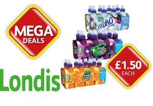 8x200ml Robinsons Fruit Shoots various Flavours No Added Sugar £1.50 reduced from £3.65 @ Londis