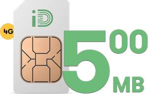 iD Mobile 500 mins, 500 MB, 5000 texts. Includes Data Rollover and Capping - £3.99