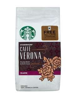 Starbucks ground and bean coffee £2.50 a bag with free latte when redeemed - Waitrose