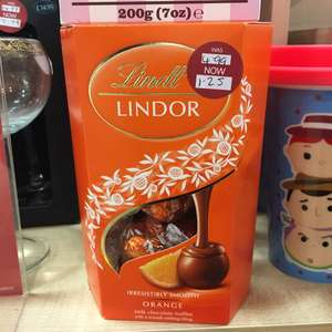 Lindor orange chocolate truffles 200g. £1.25 at Clintons
