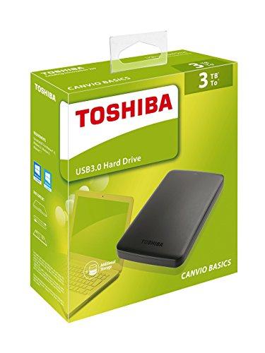 Toshiba Canvio Basics 3TB Portable External Hard Drive 2.5 Inch USB 3.0 £79.99@ Amazon