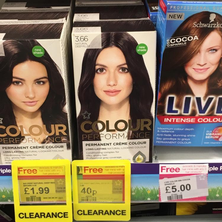 Superdrug instore Preston Colour performance permanent creme colour. Natural deep plum 0.40p