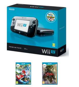Preowned Wii U 32GB Premium Bundle (Fair Condition) + Mario Kart 8 + The Legend of Zelda: Twilight Princess HD £119.99 @ Game