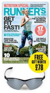 FREE Naked runner C6 Endure Carbon Fibre Sunglasses (worth £78) with Runners World 6 issues for £18 (£9 after TCB/ £14 after Quidco cashback) @ Hearst Magazines