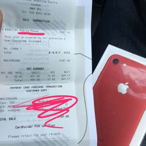 iPhone 7 red 128gb (£437 in store ) @ john lewis Brent cross