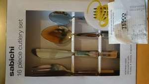 Sabichi 16 cutlery set £5 in Tesco extra Handforth dean