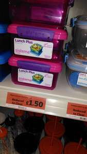Sistema lunch box £1.50 at Sainsbury's - reduced to clear