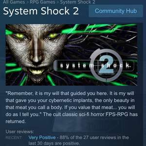 System Shock 2 on sale - £1.25 @ Steam