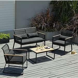 Noir 4 Piece Sofa Garden Furniture Set ASDA - £100 instore @ Asda (Stockton)