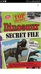 Dinosaur secret file book  £1.29 with free c+c @ Argos