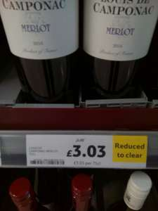 Louis de camponac merlot reduced £3.03  in-store Tesco Failsworth