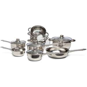 Sabichi 9-Piece Stainless Steel Pots and Pans Set £29.99 @ Studio.co.uk