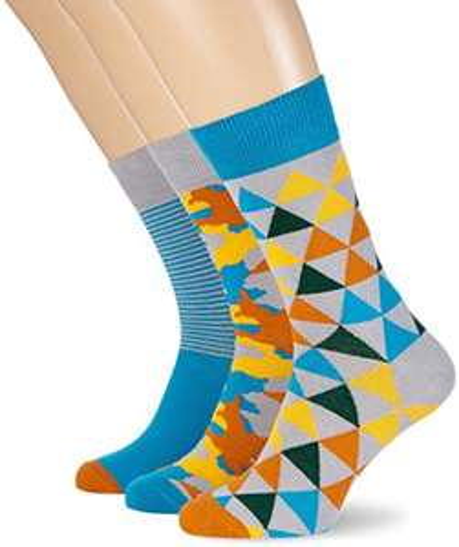 My Way Men's Heart Socks Multicoloured (Pack of 3) £2.88 @ Amazon (Add on item)