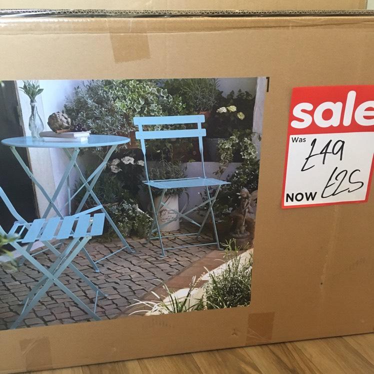 Garden bistro set - £25 instore @ Asda (Harrogate)