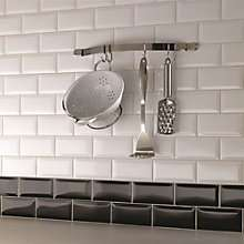 Bevelled Edge Ceramic Wall Tiles Packs of 50. Available in cream, white & black. was £12.00 now £8.00 @ B & Q