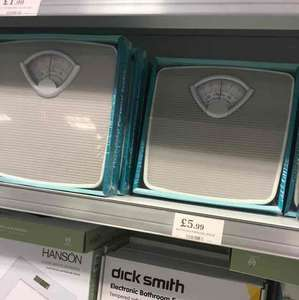 bathroom weighing scales - home bargains