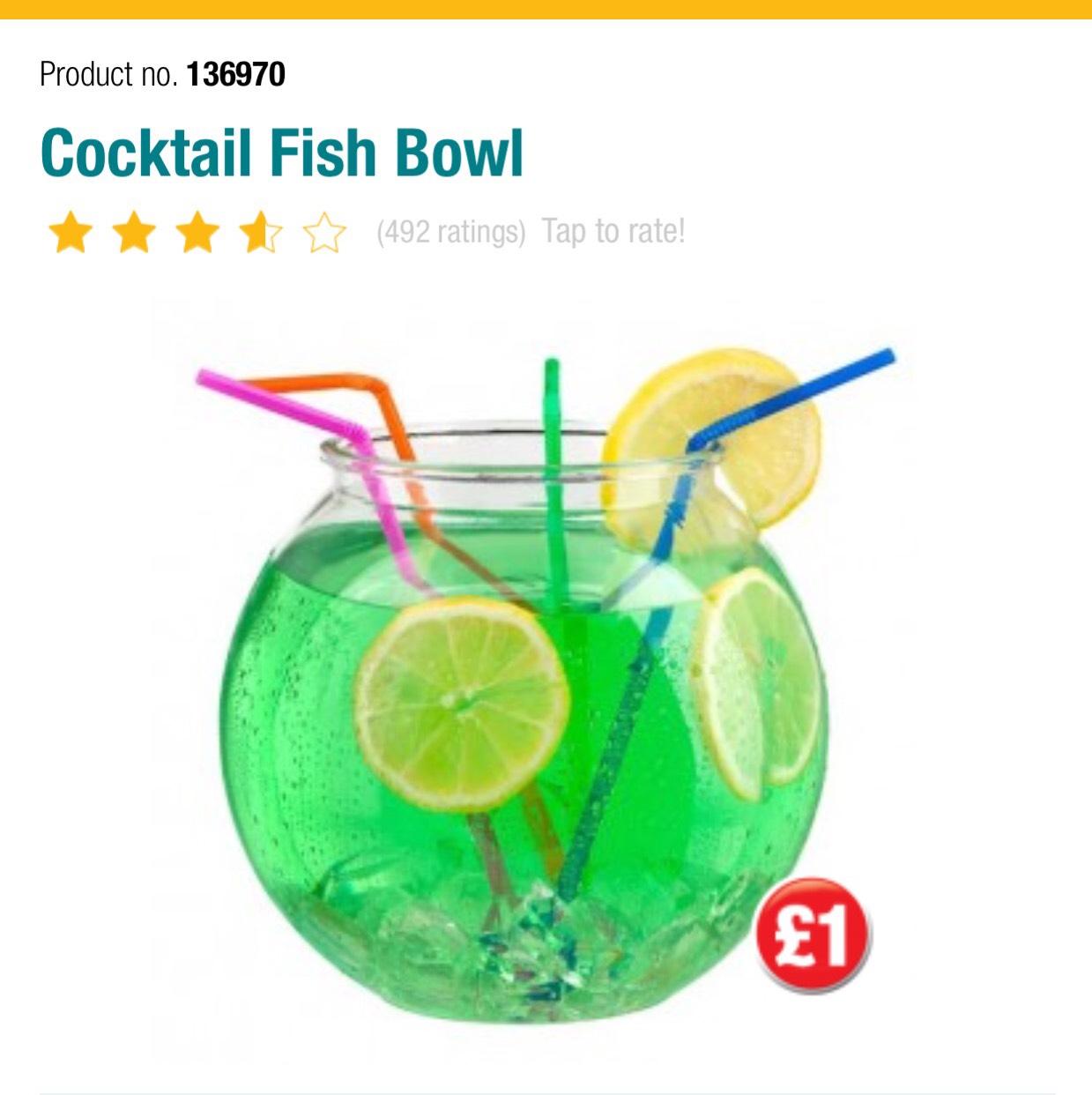 Cocktail Fish Bowl - £1 @ Poundland