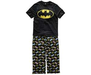 Men's Batman Pyjamas - Size Small / Medium / Large / Extra Large Only £5.49 @ Argos